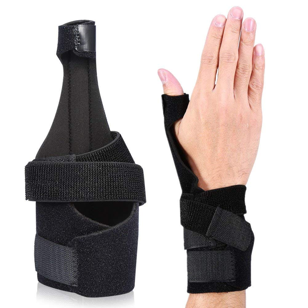 Finger Brace With Splints, Adjustable Hand Finger Recovery Brace Stabilizers with Removable Aluminium Splint Unisex Fitness Protection Injury Treatment Protector Tool Alleviate Finger Pain