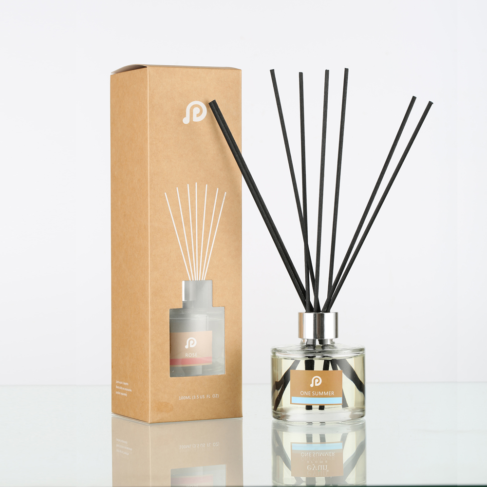 Decorative Glass Bottle Luxury Aroma 100Ml Reed Diffuser Box From OEM Factory