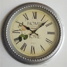 2017 High Quality Factory Price Plastic Shabby chic Decorative wall clock