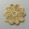 High quality Indian garment decoration metal wire gold lace applique patches
