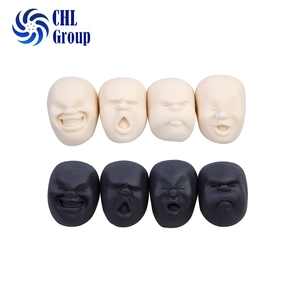 Japanese angry face shape caomaru faces skeleton stress ball brown stress ball
