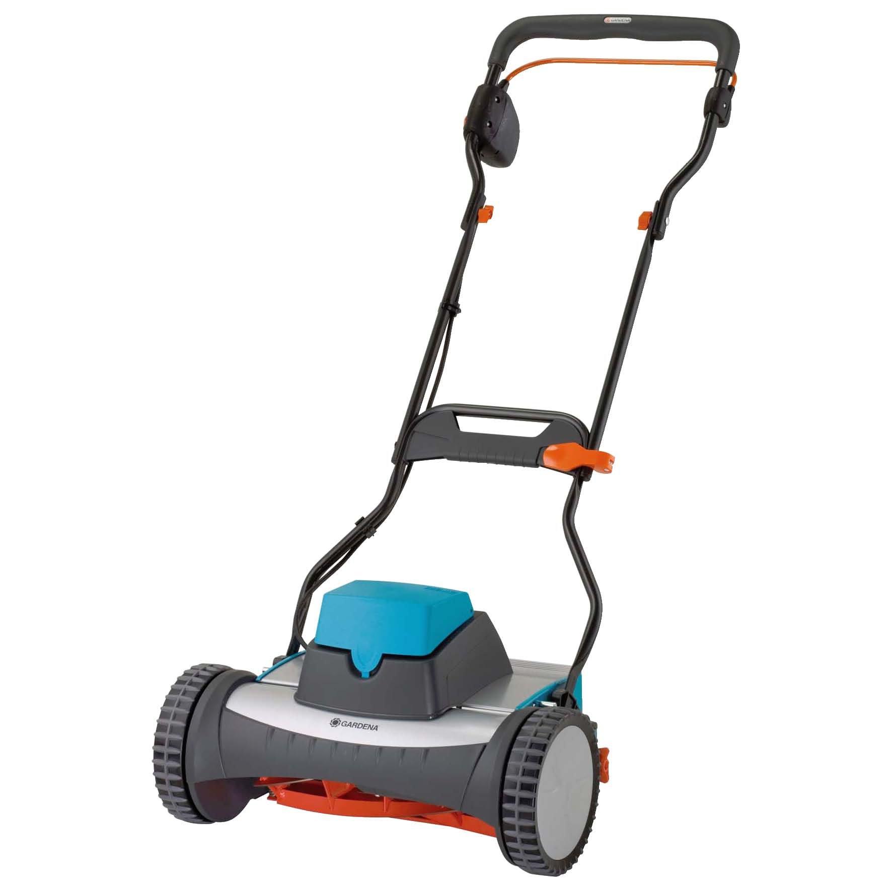Gardena 4026-U 15-Inch 12-Volt Cordless Electric Reel Lawn Mower, 380AC