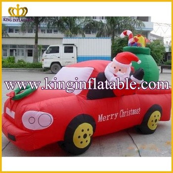 wholesale funny inflatable christmas car decorations inflatable santa truck