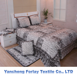 High-grade luxury and soft long plush faux fur bed and sofa cushion and blanket bed sheet bedspread and carpet