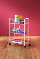 3-Tier Multi-Use Laundry Utility Room Rolling Storage Basket Shelves Cart Bins