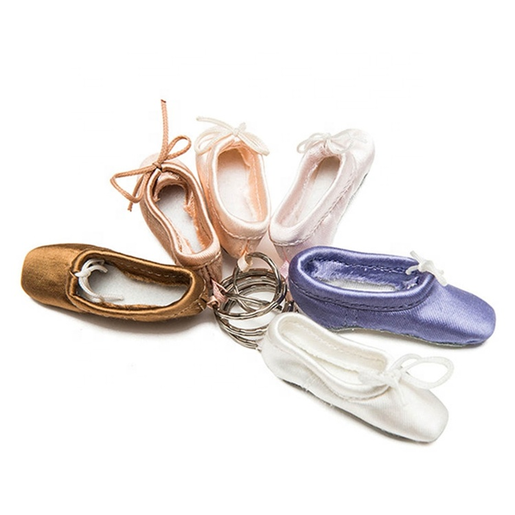 Ballet Foottip Pointe Shoes Key Chain Mini Shoe Ballet Keychain Satin Pointe Key ring