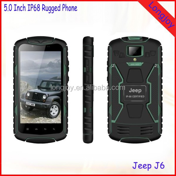 Jeep J6 IP68 Rugged Waterproof Cell Phone 5.0 Inch Screen Quad Core 3G Dual SIM Phone with GPS
