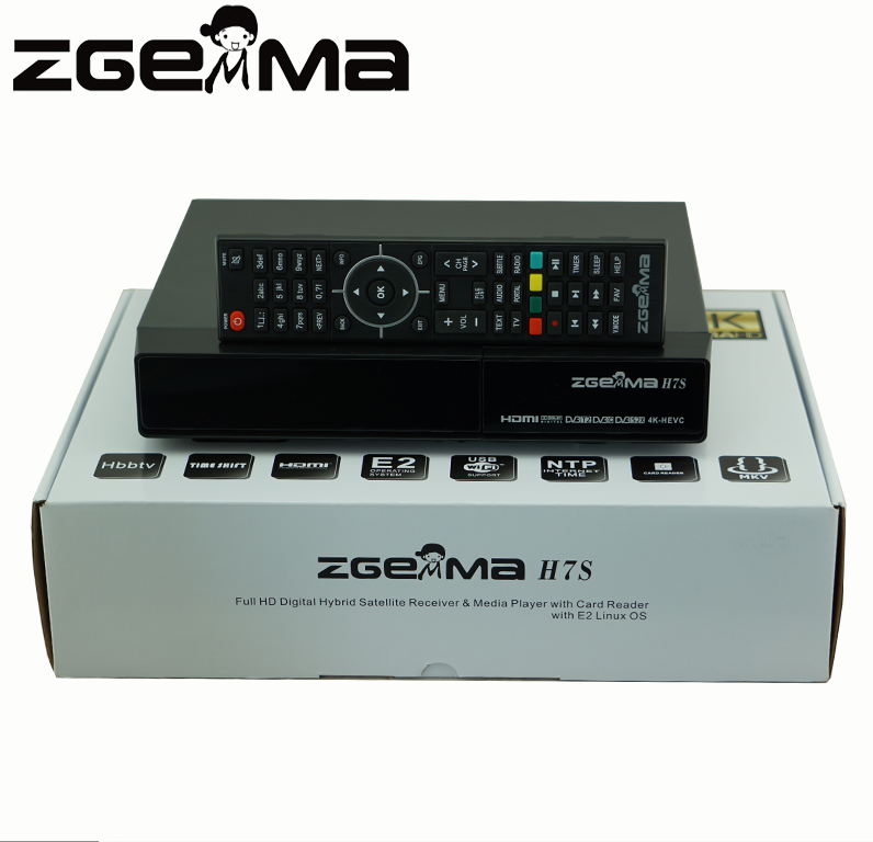 New ZGEMMA 4K Satellite Receiver with 2*DVB-S2/S2X + DVB-T2/C Three tuners ZGEMMA H7S Multi Stream Satellite Receiver