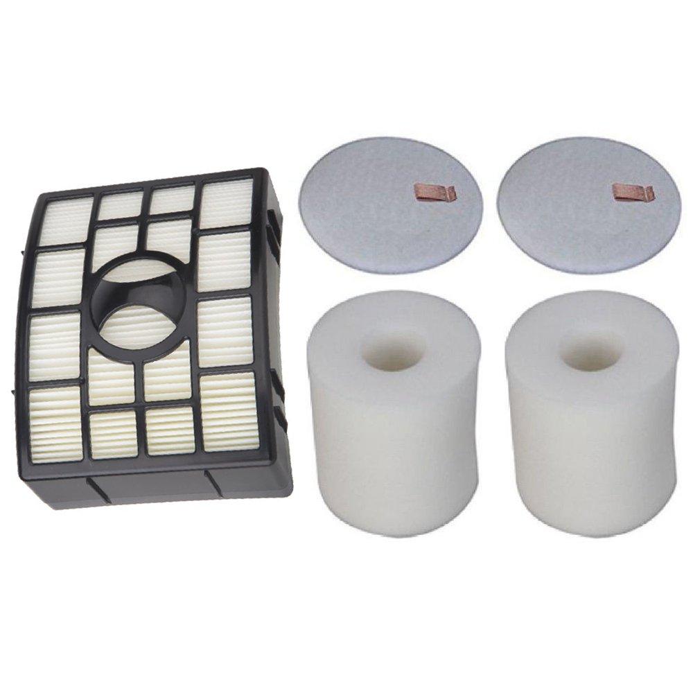 Tosva NV650 HEPA, Foam & Felt Filter Fits Shark Navigator Lift-Away NV651 NV652 NV750 NV750W NV751 & NV752 Vacuums, Part # XFF650 & XHF650 (2 HEPA Filters+2 Foam+2 Felt)