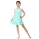 wholesale children's boutique clothing cheap aqua with gold polka dot dress baby girl