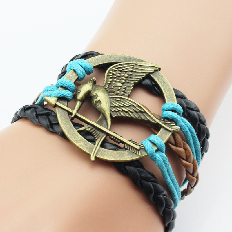Custom Leather Wrap Bracelet Whole Dragon And Arrow Shape Stainless Steel Product On