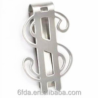 Metal silver Dollar shape money clip new design