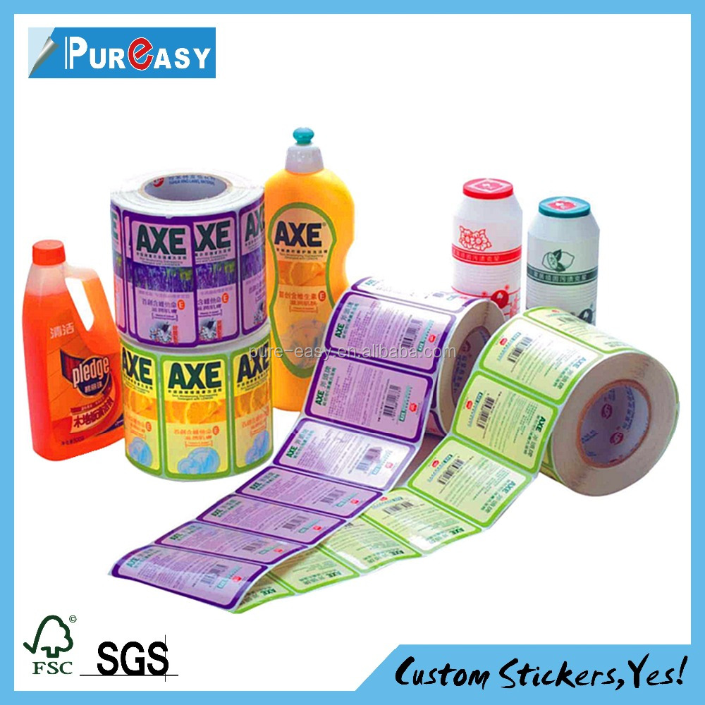 Environmentally friendly hygienic products adhesive label