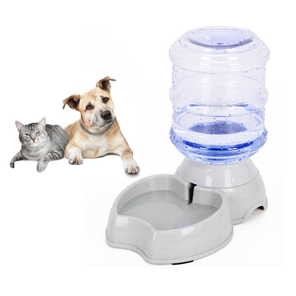 Pet Water Dispenser, Automatic Pet Waterer,Replenish Pet Waterer,Pet Water Dispenser Station,Automatic Gravity Water Drinking Fountain Bottle Bowl Dish Stand 1Gal(3.8L) by Meleg Otthon