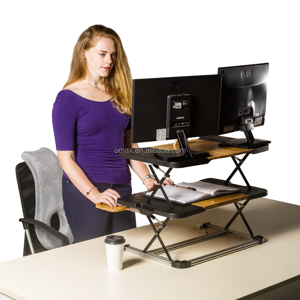 High Tech Adjustable Office Desk ModernOne Person Sit Standing