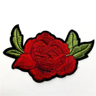 Custom Iron Rose Flower Embroidery Patch Applique for Cloth
