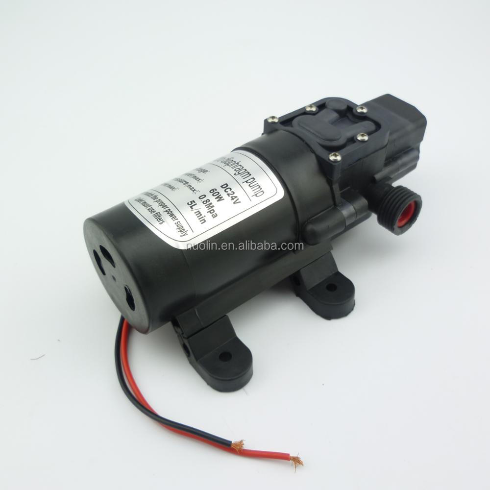 automatic pressure switch 60w electric flow rate 5L/min high pressure small electric water <strong>pump</strong> dc 24v