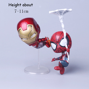 Hot boxed Toys Spider-Man iron-ManCar Hanging Magnet Base Bobbleheads