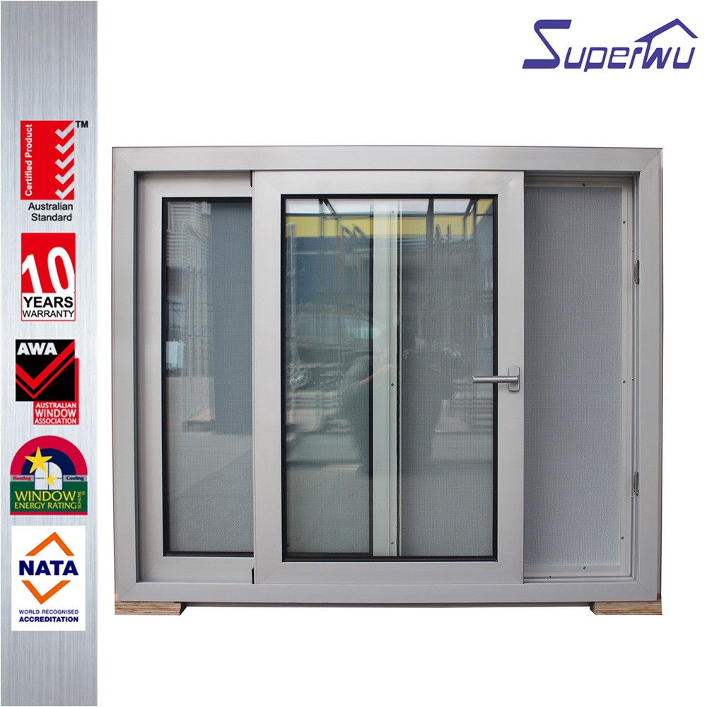The White Sliding Window With Safety Net Is Safe And Beautiful, You Can Also Customize Other Colors
