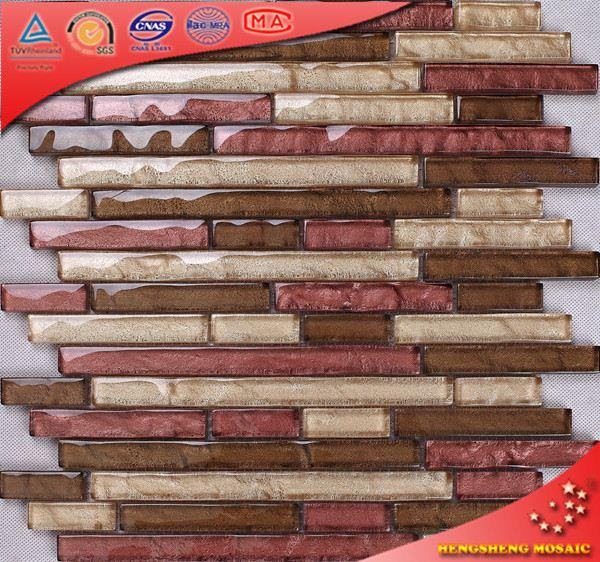 KS115 Color brillante Idea moderna rojo tira cocina mosaico baldosas ...