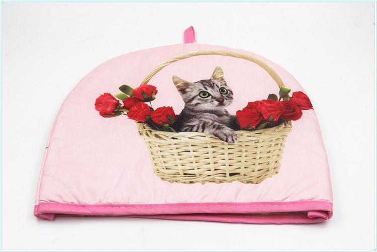 ขายส่งใหม่มาถึงการออกแบบครัวเรือนแมวพิมพ์คริสต์มาสตกแต่งที่กำหนดเองที่สวยงามชากาน้ำชาฝาครอบ