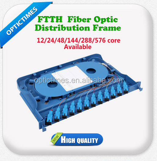 FTTH Outdoor Fiber Optic ODF / main fiber Distribution Frame price / Patch Panel distribution frame