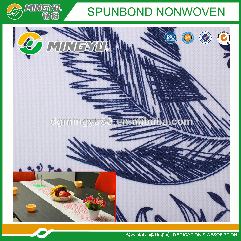 Mingyu printed PP spunbond non woven fabric used in table cloth