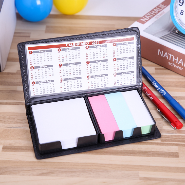 Sticky note notepad mouw lederen sticky note houder