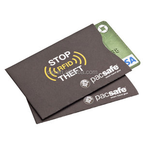 Waterproof RFID blocking credit card sleeve protector shield