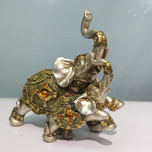 Home decorative polyresin elephant statue gold elephant for sale