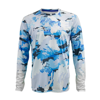 Personalised moisture wicking ventilated toddler men's long sleeve fishing sublimation shirt
