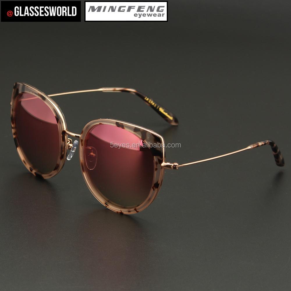 e7243007b178d Melhor qualidade novo design UV 400 armação de acetato com lentes de  espelho para as mulheres