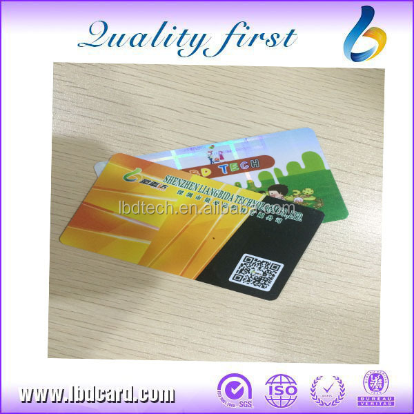 Chip I CODE SLI-S QR Code PVC Card for Hospital Security
