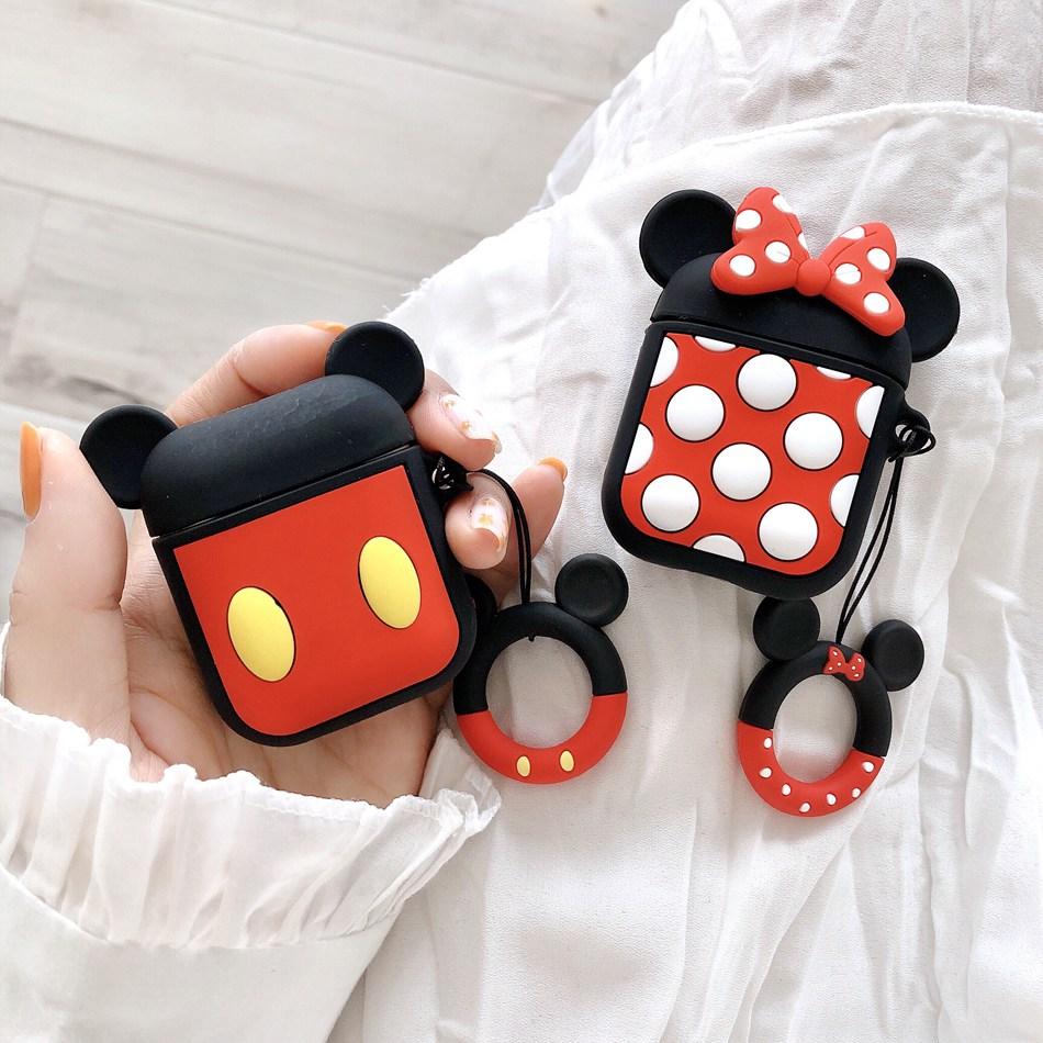 High quality customized cartoon cute silicone earphone case for airpod