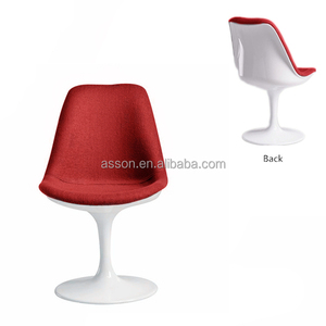 Cheap Price High Quality Fabric Upholster Fiberglass Tulip Side Dining Chair