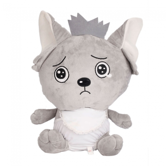 Customized promotional cute white wolf plush toy