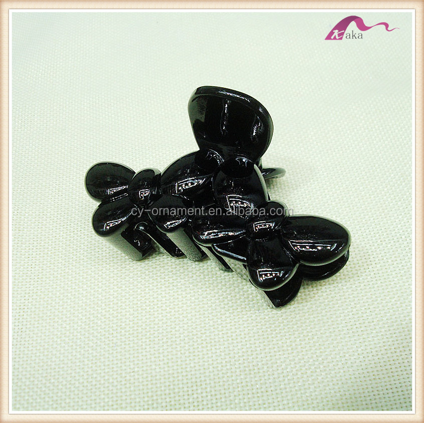 Black Hairdressers Butterfly Hair Claw Salon Section Clip Clasps Clamps