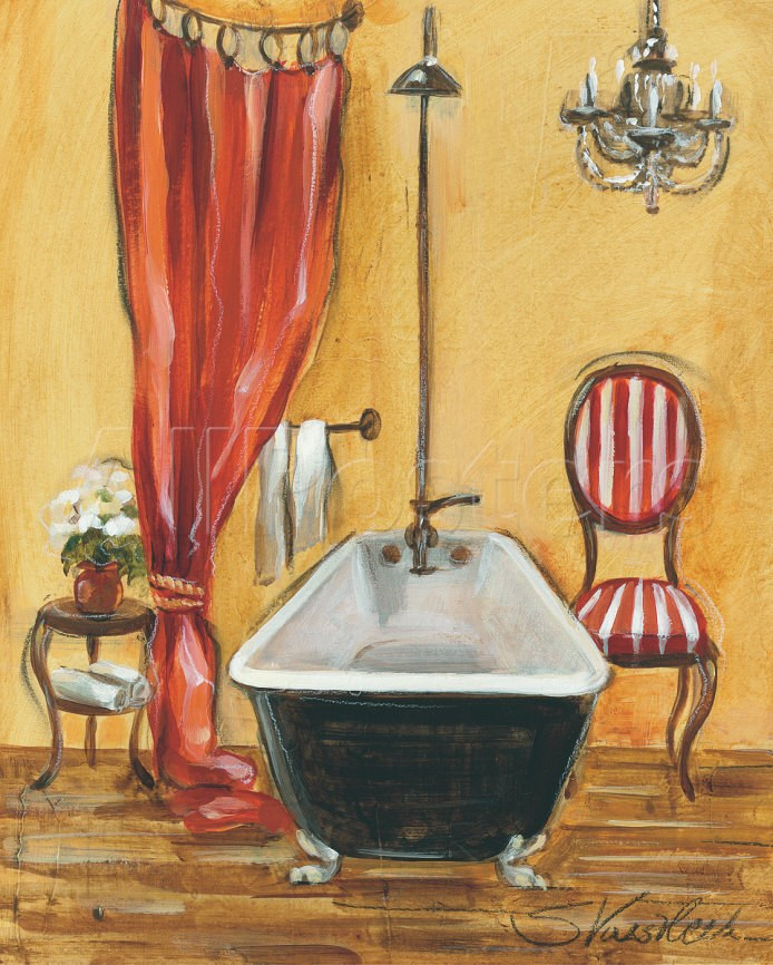 Abstract Oil Painting,Tuscan Bath III,Silvia Vassileva