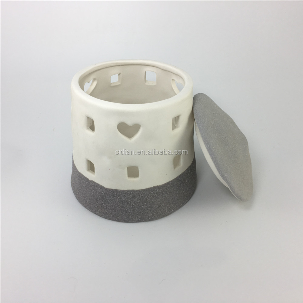 Round Ceramic House tealight holder