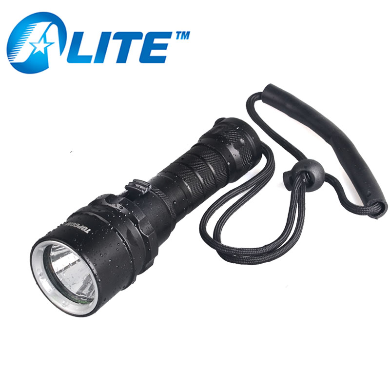 Underwater diving flashlight oem T6 U2 led scuba dive torch light