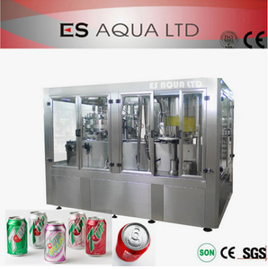 Aluminum Beverage Cans Soda Pop Making / Filling Machinery