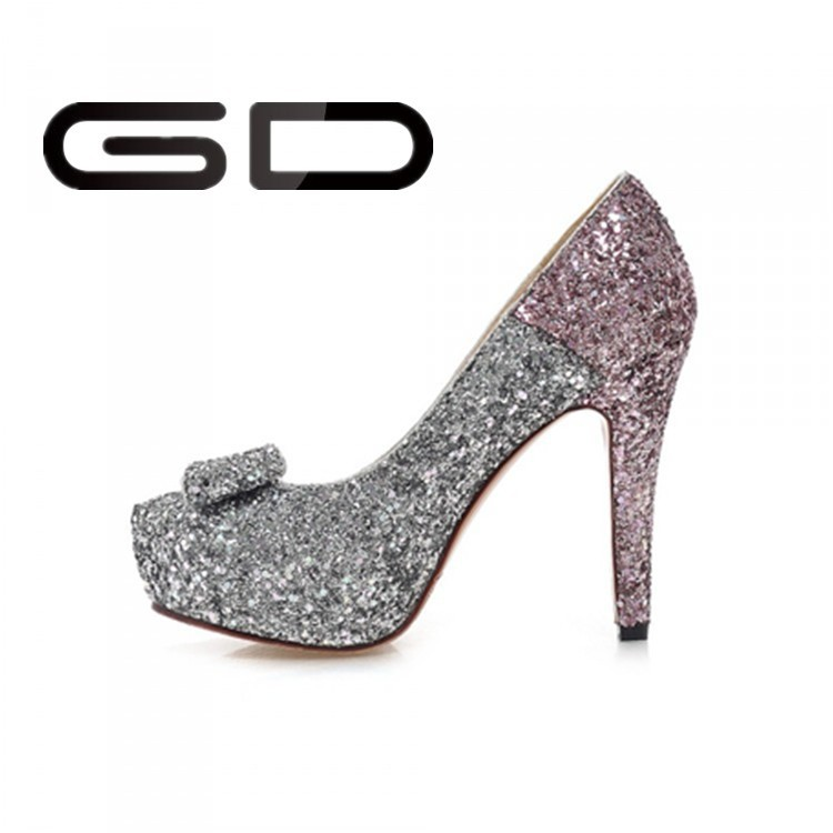Latest Hot Selling Top Quality blingbling wedding shoes high heel with competitive offer