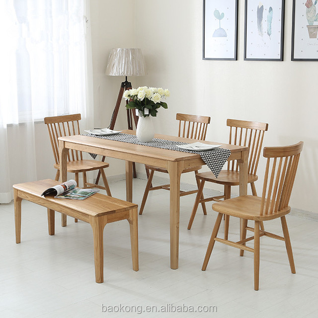 Vogue Dining Room Solid Wood Table And Chair Set