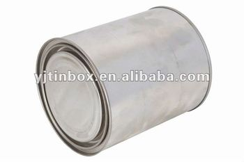 Customized round empty gallon paint cans buy paint tin for 1 gallon clear plastic paint cans