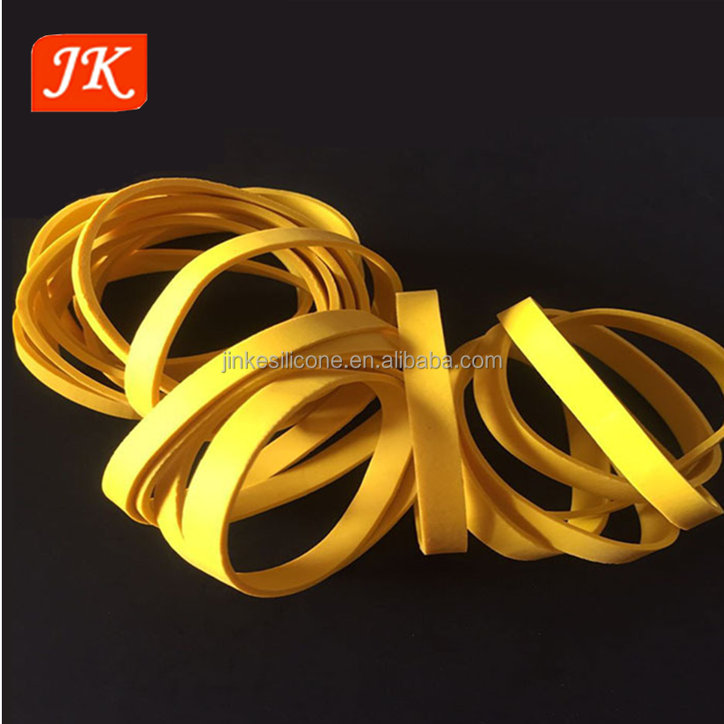 OEM 100% natural durable wide rubber band for packing and industrial
