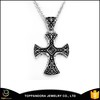 High quality customized diy blank pendant custom stainless steel pendant metal cross pendants