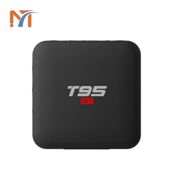 Nuovo OTT TV Box 4 k HD 1 gb/8 gb 2g/16g T95 S1 Amlogic s905w Con La Voce di Controllo Remoto di Android tv box