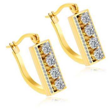 Fashion Saudi Gold Earrings Design Hoop For Women 2017