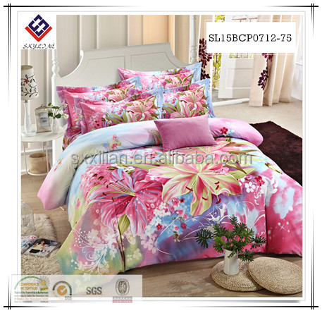 reactive digital printing for cotton bedding set/ bedding sheet