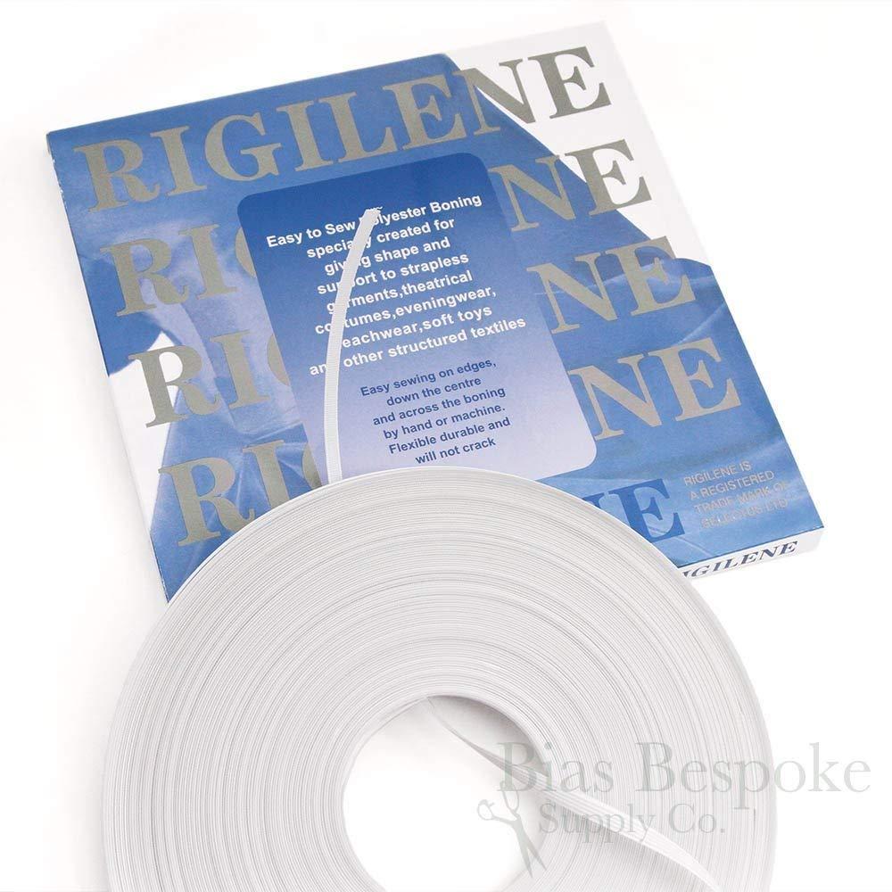 Item4ever 1//4, White 50yds Rigilene Poly Polyester Boning